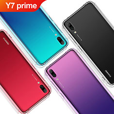 Custodia Silicone Trasparente Ultra Sottile Morbida T02 per Huawei Y7 Prime (2019) Chiaro
