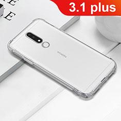 Custodia Silicone Trasparente Ultra Sottile Morbida T02 per Nokia 3.1 Plus Chiaro