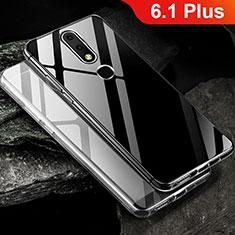 Custodia Silicone Trasparente Ultra Sottile Morbida T02 per Nokia 6.1 Plus Chiaro