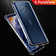 Custodia Silicone Trasparente Ultra Sottile Morbida T02 per Nokia 9 PureView Chiaro
