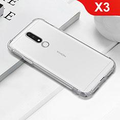 Custodia Silicone Trasparente Ultra Sottile Morbida T02 per Nokia X3 Chiaro