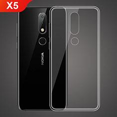 Custodia Silicone Trasparente Ultra Sottile Morbida T02 per Nokia X5 Chiaro