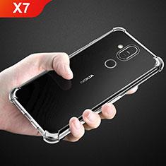 Custodia Silicone Trasparente Ultra Sottile Morbida T02 per Nokia X7 Chiaro
