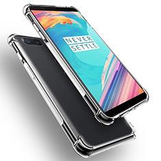 Custodia Silicone Trasparente Ultra Sottile Morbida T02 per OnePlus 5T A5010 Chiaro