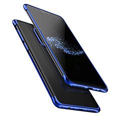 Custodia Silicone Trasparente Ultra Sottile Morbida T02 per OnePlus 6 Blu