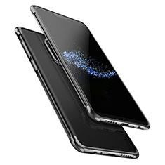 Custodia Silicone Trasparente Ultra Sottile Morbida T02 per OnePlus 6 Nero