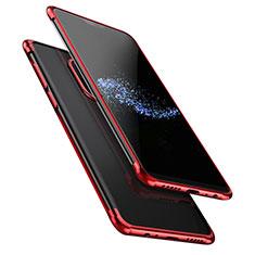 Custodia Silicone Trasparente Ultra Sottile Morbida T02 per OnePlus 6 Rosso