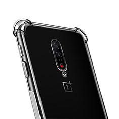 Custodia Silicone Trasparente Ultra Sottile Morbida T02 per OnePlus 7 Pro Chiaro
