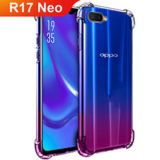 Custodia Silicone Trasparente Ultra Sottile Morbida T02 per Oppo R17 Neo Chiaro