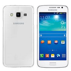 Custodia Silicone Trasparente Ultra Sottile Morbida T02 per Samsung Galaxy A3 SM-300F Chiaro