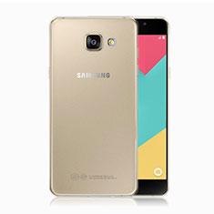 Custodia Silicone Trasparente Ultra Sottile Morbida T02 per Samsung Galaxy A5 (2017) Duos Chiaro