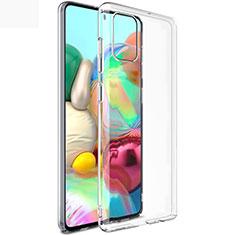 Custodia Silicone Trasparente Ultra Sottile Morbida T02 per Samsung Galaxy A71 5G Chiaro