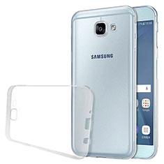 Custodia Silicone Trasparente Ultra Sottile Morbida T02 per Samsung Galaxy A8 (2016) A8100 A810F Chiaro