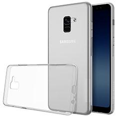 Custodia Silicone Trasparente Ultra Sottile Morbida T02 per Samsung Galaxy A8+ A8 Plus (2018) Duos A730F Chiaro