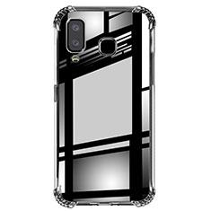 Custodia Silicone Trasparente Ultra Sottile Morbida T02 per Samsung Galaxy A8 Star Chiaro