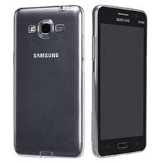 Custodia Silicone Trasparente Ultra Sottile Morbida T02 per Samsung Galaxy Grand Prime 4G G531F Duos TV Chiaro