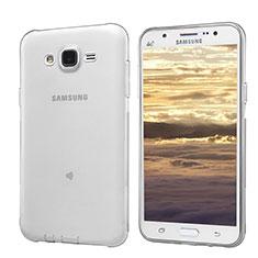 Custodia Silicone Trasparente Ultra Sottile Morbida T02 per Samsung Galaxy J5 SM-J500F Grigio