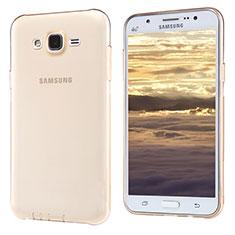 Custodia Silicone Trasparente Ultra Sottile Morbida T02 per Samsung Galaxy J5 SM-J500F Oro