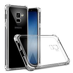 Custodia Silicone Trasparente Ultra Sottile Morbida T02 per Samsung Galaxy J6 (2018) J600F Chiaro
