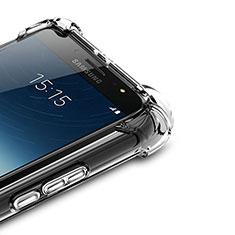 Custodia Silicone Trasparente Ultra Sottile Morbida T02 per Samsung Galaxy J7 Plus Chiaro