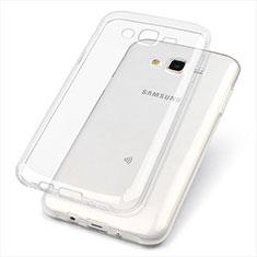 Custodia Silicone Trasparente Ultra Sottile Morbida T02 per Samsung Galaxy J7 SM-J700F J700H Chiaro