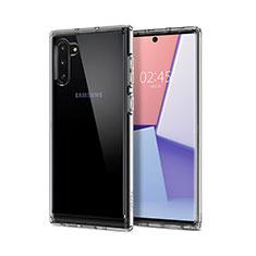 Custodia Silicone Trasparente Ultra Sottile Morbida T02 per Samsung Galaxy Note 10 5G Chiaro