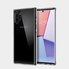 Custodia Silicone Trasparente Ultra Sottile Morbida T02 per Samsung Galaxy Note 10 Plus 5G Chiaro
