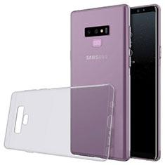 Custodia Silicone Trasparente Ultra Sottile Morbida T02 per Samsung Galaxy Note 9 Grigio