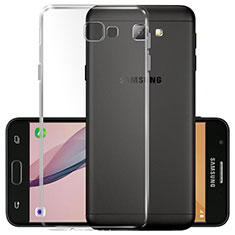 Custodia Silicone Trasparente Ultra Sottile Morbida T02 per Samsung Galaxy On5 (2016) G570 G570F Chiaro
