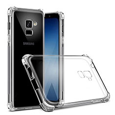 Custodia Silicone Trasparente Ultra Sottile Morbida T02 per Samsung Galaxy On6 (2018) J600F J600G Chiaro