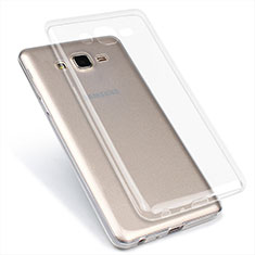 Custodia Silicone Trasparente Ultra Sottile Morbida T02 per Samsung Galaxy On7 G600FY Chiaro