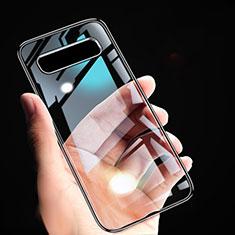 Custodia Silicone Trasparente Ultra Sottile Morbida T02 per Samsung Galaxy S10 5G Nero