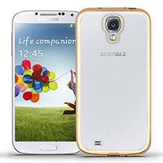Custodia Silicone Trasparente Ultra Sottile Morbida T02 per Samsung Galaxy S4 IV Advance i9500 Oro