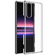 Custodia Silicone Trasparente Ultra Sottile Morbida T02 per Sony Xperia 5 Chiaro
