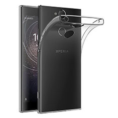 Custodia Silicone Trasparente Ultra Sottile Morbida T02 per Sony Xperia XA2 Plus Chiaro