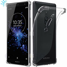 Custodia Silicone Trasparente Ultra Sottile Morbida T02 per Sony Xperia XZ2 Premium Chiaro