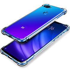 Custodia Silicone Trasparente Ultra Sottile Morbida T02 per Xiaomi Mi 8 Lite Chiaro