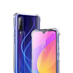 Custodia Silicone Trasparente Ultra Sottile Morbida T02 per Xiaomi Mi A3 Chiaro