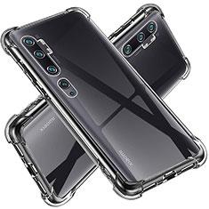 Custodia Silicone Trasparente Ultra Sottile Morbida T02 per Xiaomi Mi Note 10 Chiaro