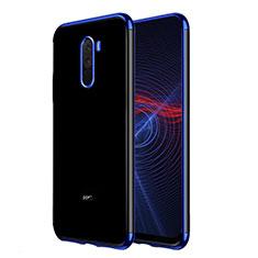 Custodia Silicone Trasparente Ultra Sottile Morbida T02 per Xiaomi Pocophone F1 Blu