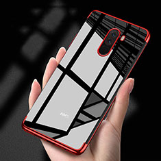 Custodia Silicone Trasparente Ultra Sottile Morbida T02 per Xiaomi Pocophone F1 Rosso