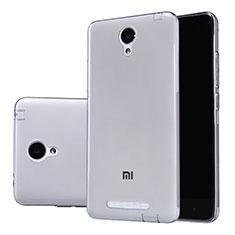 Custodia Silicone Trasparente Ultra Sottile Morbida T02 per Xiaomi Redmi Note 2 Grigio