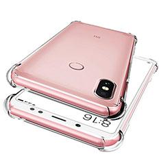 Custodia Silicone Trasparente Ultra Sottile Morbida T02 per Xiaomi Redmi Note 5 Pro Chiaro