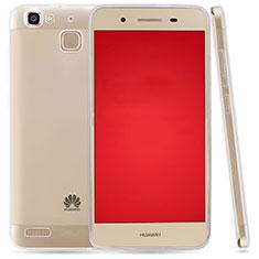 Custodia Silicone Trasparente Ultra Sottile Morbida T03 per Huawei P8 Lite Smart Chiaro