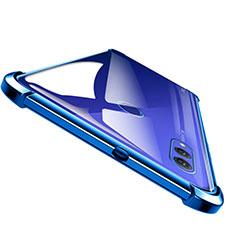 Custodia Silicone Trasparente Ultra Sottile Morbida T04 per Huawei Honor Note 10 Blu