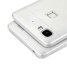 Custodia Silicone Trasparente Ultra Sottile Morbida T04 per Huawei P8 Lite Smart Grigio