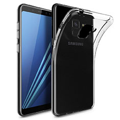 Custodia Silicone Trasparente Ultra Sottile Morbida T04 per Samsung Galaxy A8+ A8 Plus (2018) A730F Chiaro