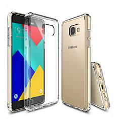 Custodia Silicone Trasparente Ultra Sottile Morbida T04 per Samsung Galaxy A9 (2016) A9000 Chiaro