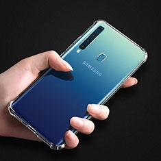Custodia Silicone Trasparente Ultra Sottile Morbida T04 per Samsung Galaxy A9s Chiaro