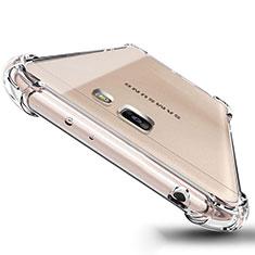 Custodia Silicone Trasparente Ultra Sottile Morbida T04 per Samsung Galaxy J5 Prime G570F Chiaro